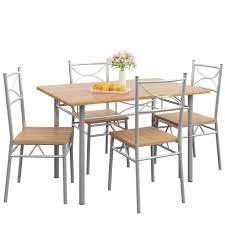 casaria esstisch küchentisch mit 4 stühlen esszimmergruppe essgruppe küche tisch stuhl set farbe buche