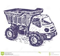 Toy Truck Vector Drawing Stock Vector. Illustration Of Doodle ...