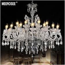 Aliexpress Buy Hot Sale Classic Crystal Chandelier Light Fixture Clear White Lamp Pendant For Hotel Restaurant Lobby Foyer MD8233 From