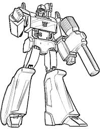 CartoonDownload For Free Transformer Coloring Pages Megatron With Array X