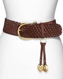 michael michael kors braided leather belt bloomingdale u0027s