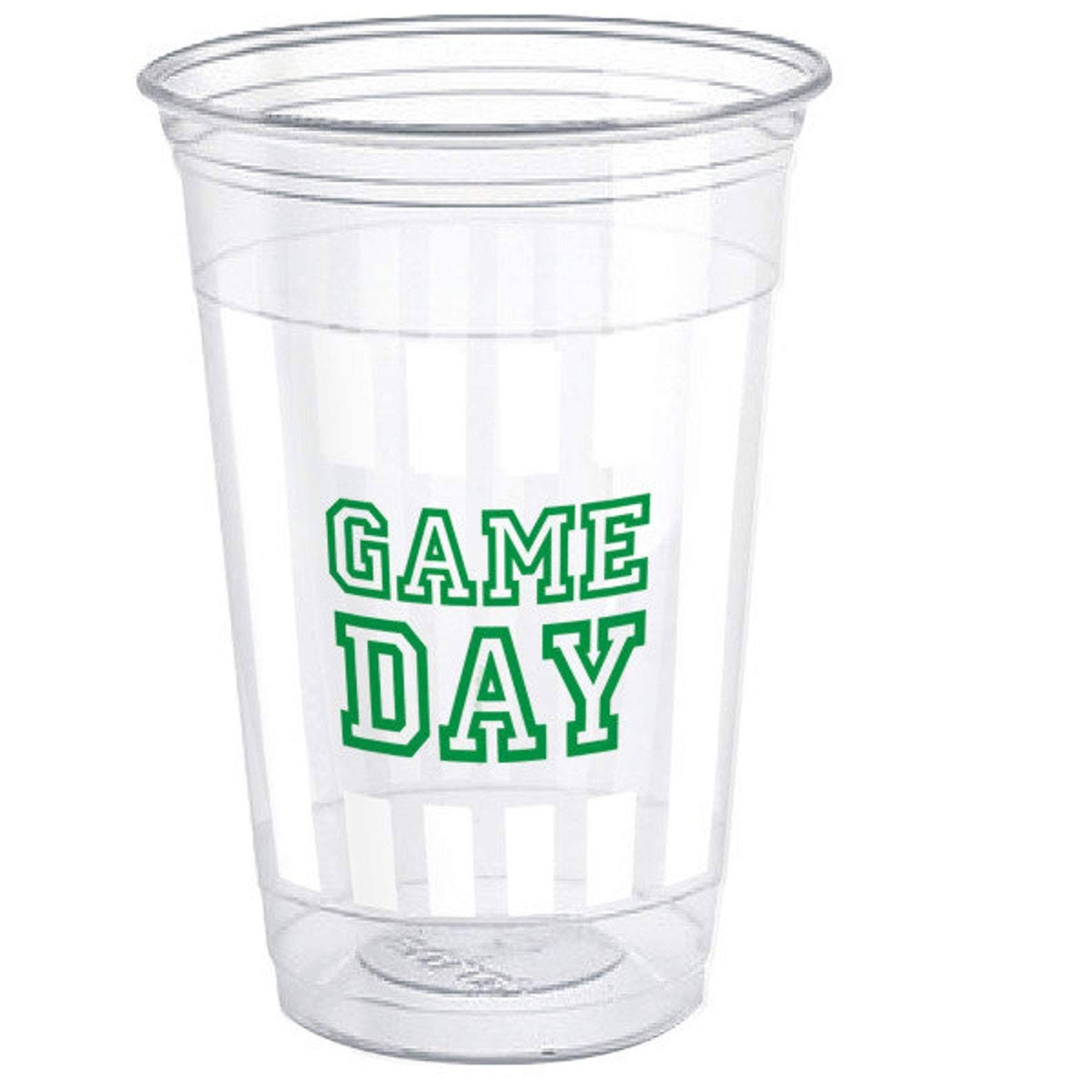 Unique Game Day Football Plastic Cups, 470ml, 8ct