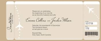 Boarding Pass Wedding Invitation And
