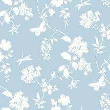 light blue scenic vines wallpaper