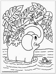 Jungle Animal Coloring Pages Preschoolers Printable