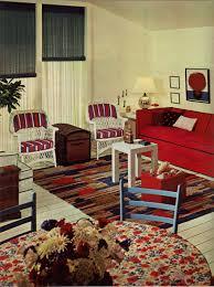 1960s Red White Blue Patriot Living Room