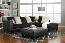 4500 sectional sofa in black corduroy fabric bi cast
