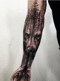 Amazing Wolf Tree Tattoo By Jak Connolly At Equilattera In Miami