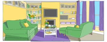 Living Room With Toys Cartoon