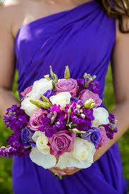 Purple Grey Spring Wedding At The Waterview