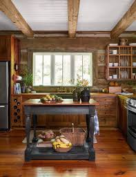 Rustic Log Cabin Kitchen Ideas by Sweet Rustic Cabin Kitchen It Has A Lot Of Modern Touches But