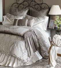 Bella Lux Bedding by Leblanc Bed Set Brings Grandeur To Its Light Neutral Tones Its