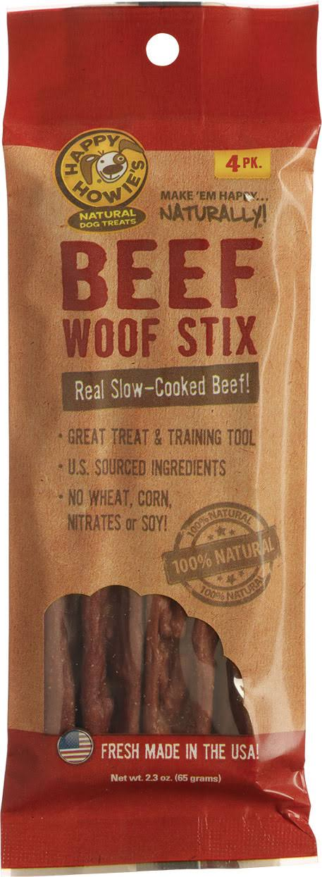 Happy Howies Beef Woof Stix - 4 Pack