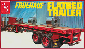 AMT USA 1/25 Scale Fruehauf Flatbed Trailer Plastic Model Kit - USA ...