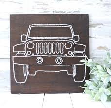 100 Hand Picked Trucks MADE TO ORDER Jeep String Art Its A Jeep Thing Jeep Wrangler