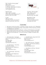 Cook Cover Letter Sample A Simple Resume Prep