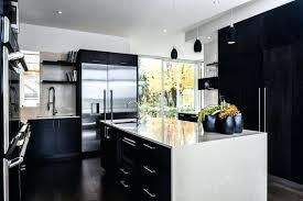 cuisine blanc et noir deco cuisine noir stunning cuisine en bois noir photos
