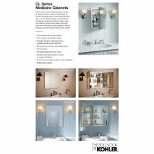 Home Depot Kohler Recessed Medicine Cabinet by Kohler 30 In W X 26 In H Two Door Recessed Or Surface Mount