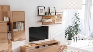 interliving wohnzimmer serie 2006 wandregal 131 830 eiche bianco hirnholz weiß zwei böden