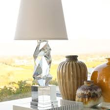 Crystal Table Lamps For Bedroom by Geometric Crystal Table Lamp Williams Sonoma