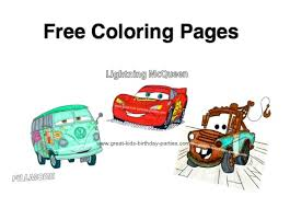 Free Coloring Page Disney Cars Pages Pdf About