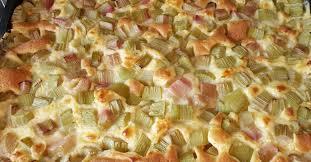 rhabarber vanille kuchen vom blech