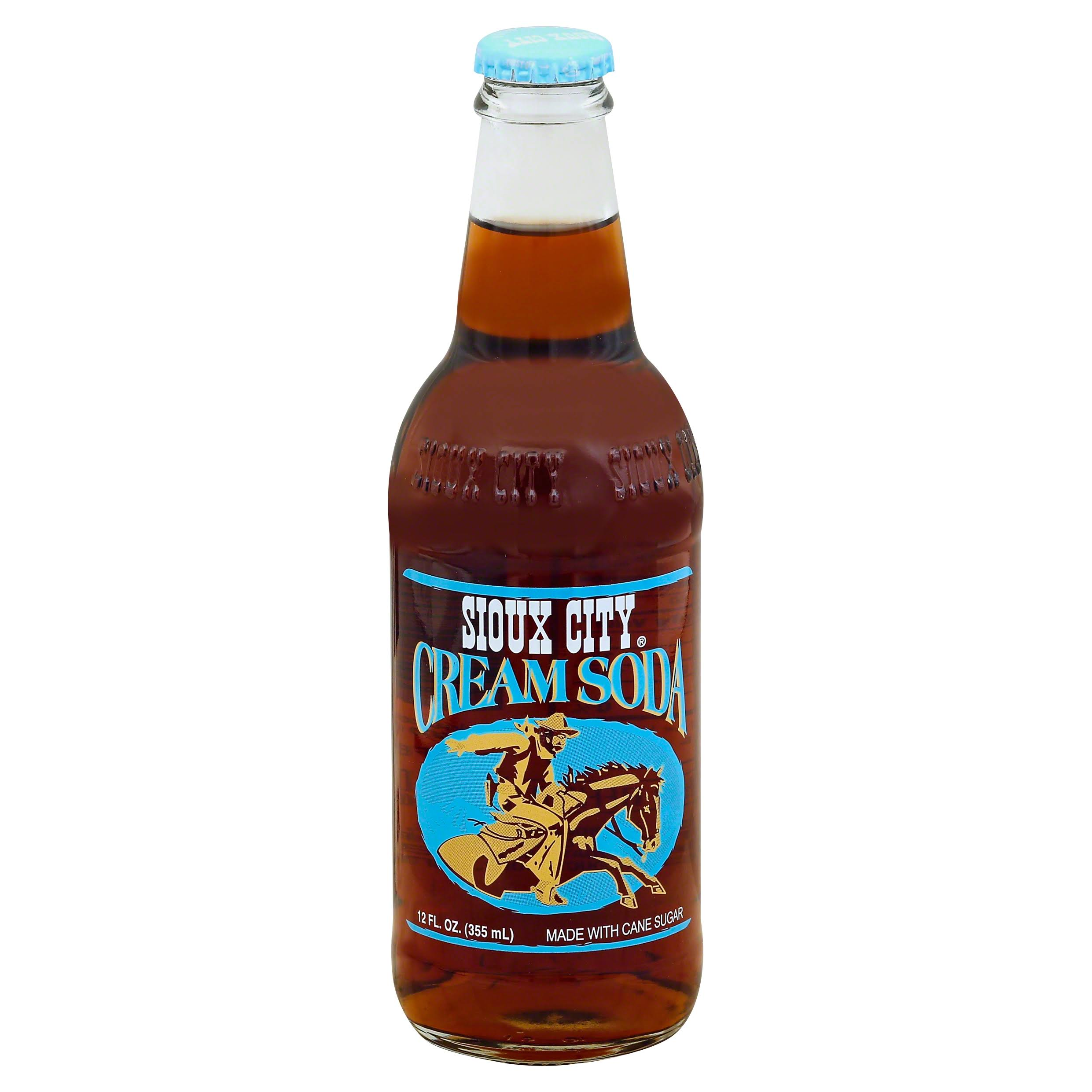 Sioux City Cream Soda - 12oz, 4 Pack