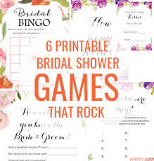 6 Printable Bridal Shower Games That Rock