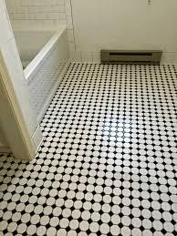 Rittenhouse Square Tile Trim Pieces by Bathroom Floor Daltile Octagon U0026 Dot Mosaic W Black Dot Bath