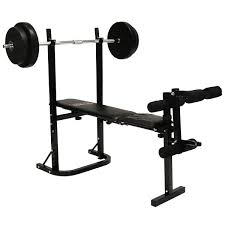MultiPurpose Training Bench Barbell And Dumbbell Weight Set