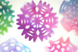 Beautiful Craft For Kids Coffee Filter Snowflakes