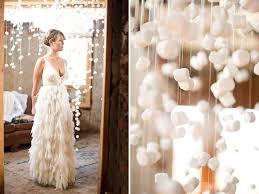 Ruffled Wedding Dress Marshmallow Installation