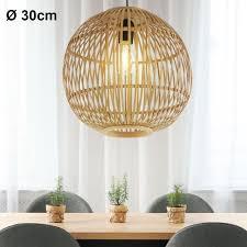 hängeleuchte bambus geflecht kugel d 30 cm hildegard
