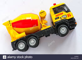 100 Toy Cement Truck Cement Mixer Truck Toy Isolated On White Background Stock Photo