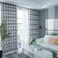 europäischen stil einfache ruhig grau vorhänge für wohnzimmer schlafzimmer fertig importiert gaze passenden fenster vorhang