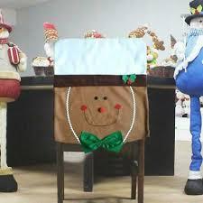 weihnachten lebkuchenmann stuhlhussen hut esszimmer sitz