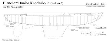 Model Ship Plans Free by Blanchard Junior Knockabout The Model Shipwright