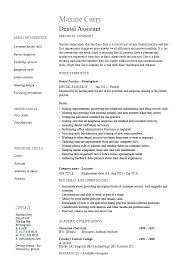 Dental Resume Template Dentist Example Hygiene Sample Assistant