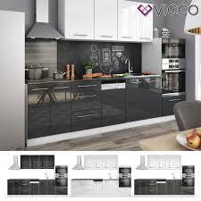 vicco küche fame line küchenzeile einbauküche 295cm