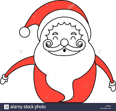 Santa Claus Coloring Pages Free Printables Pdf Color Silhouette Image Cartoon Body Fat Smiling Games