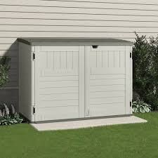 Suncast Plastic Garage Storage Cabinets by Storage Sheds U0026 Deck Boxes At Ace Hardware