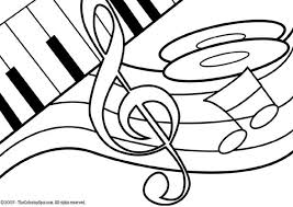 Note Coloring Pages Music Free Page