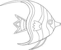 Angel Fish Coloring Page Tropical Pets