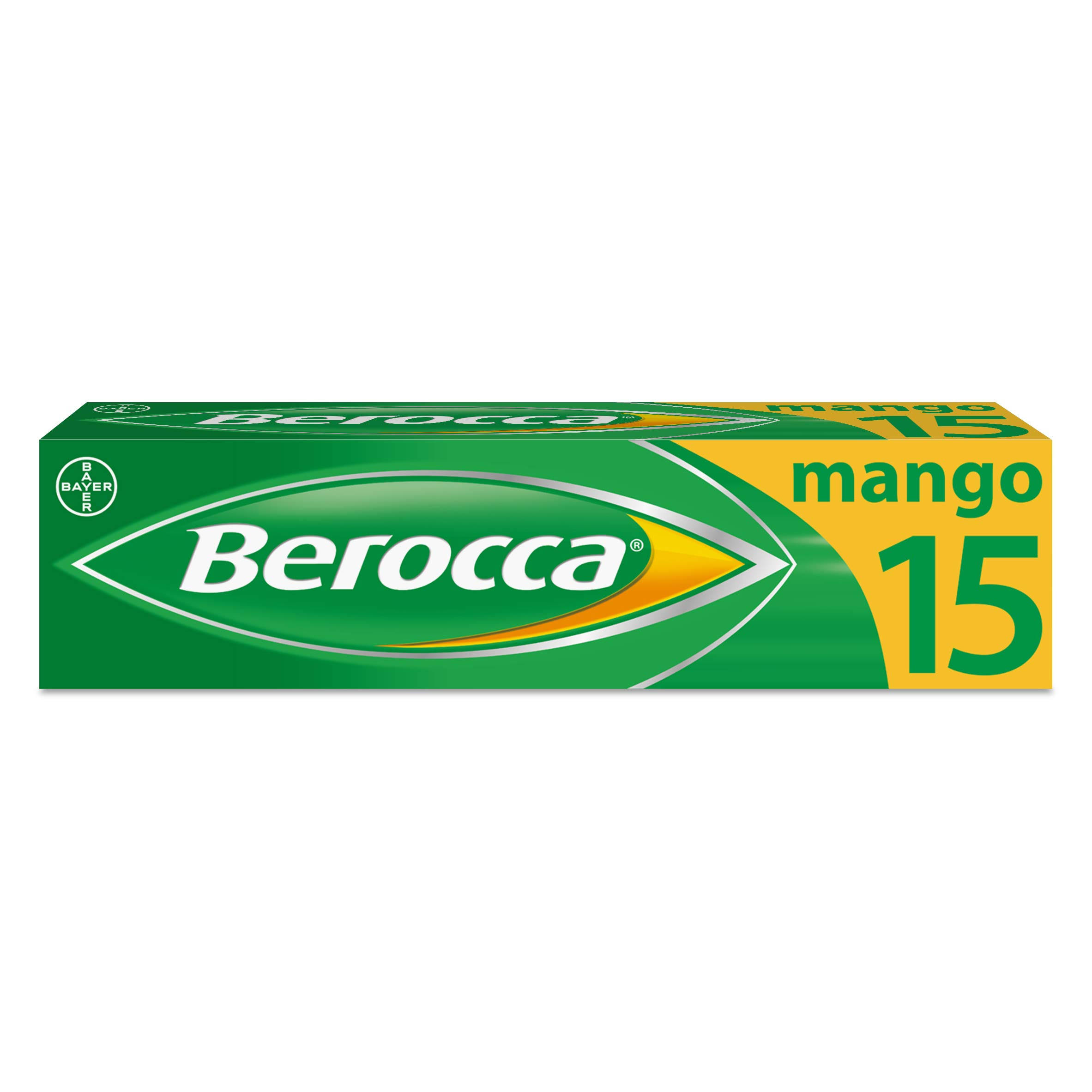 Berocca Effervescent Tablets - Mango, 15 Pack