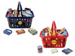 playtive kinder einkaufskorb mit miniaturfaltschachteln