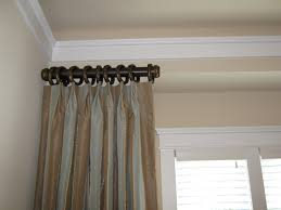 Double Traverse Wood Curtain Rod by Curtain Rods With Pull String Mommaon Decoration