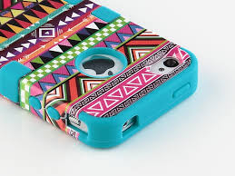Piece Tribal Pattern High Impact Hard Case Cover for iPhone 4 4S