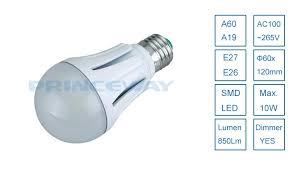 smd5630 high lumen 850lm 10w a60 a19 led globe light bulb e26 e27