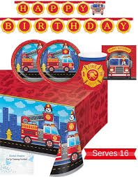 100 Fire Truck Plates Amazoncom Party Supplies Napkins Cups