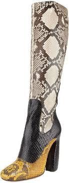 PRADA Tri Color Python Tall Boot